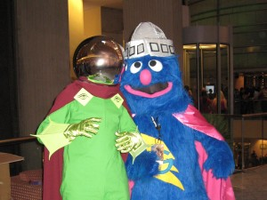 Mysterio at DragonCon 2010 with Super Grover