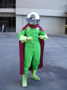 Mysterio outside the hotel