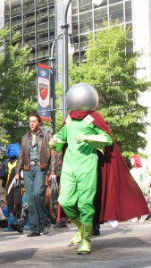 Mysterio in DragonCon 2010 parade - photo by Amber Croxall