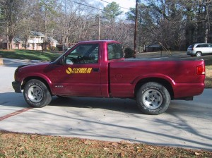 Side view of the Electric S-10 Pickup