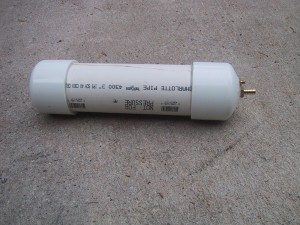 Vacuum reservoir made out of PVC pipe parts