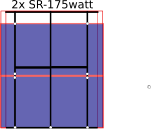 Diagram showing the panel layout over bed cover support structure.