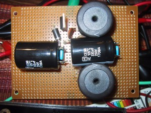 Large Capacitors and Inductors on a prefboard
