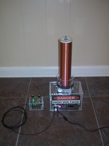 oneTesla tesla coil kit completed