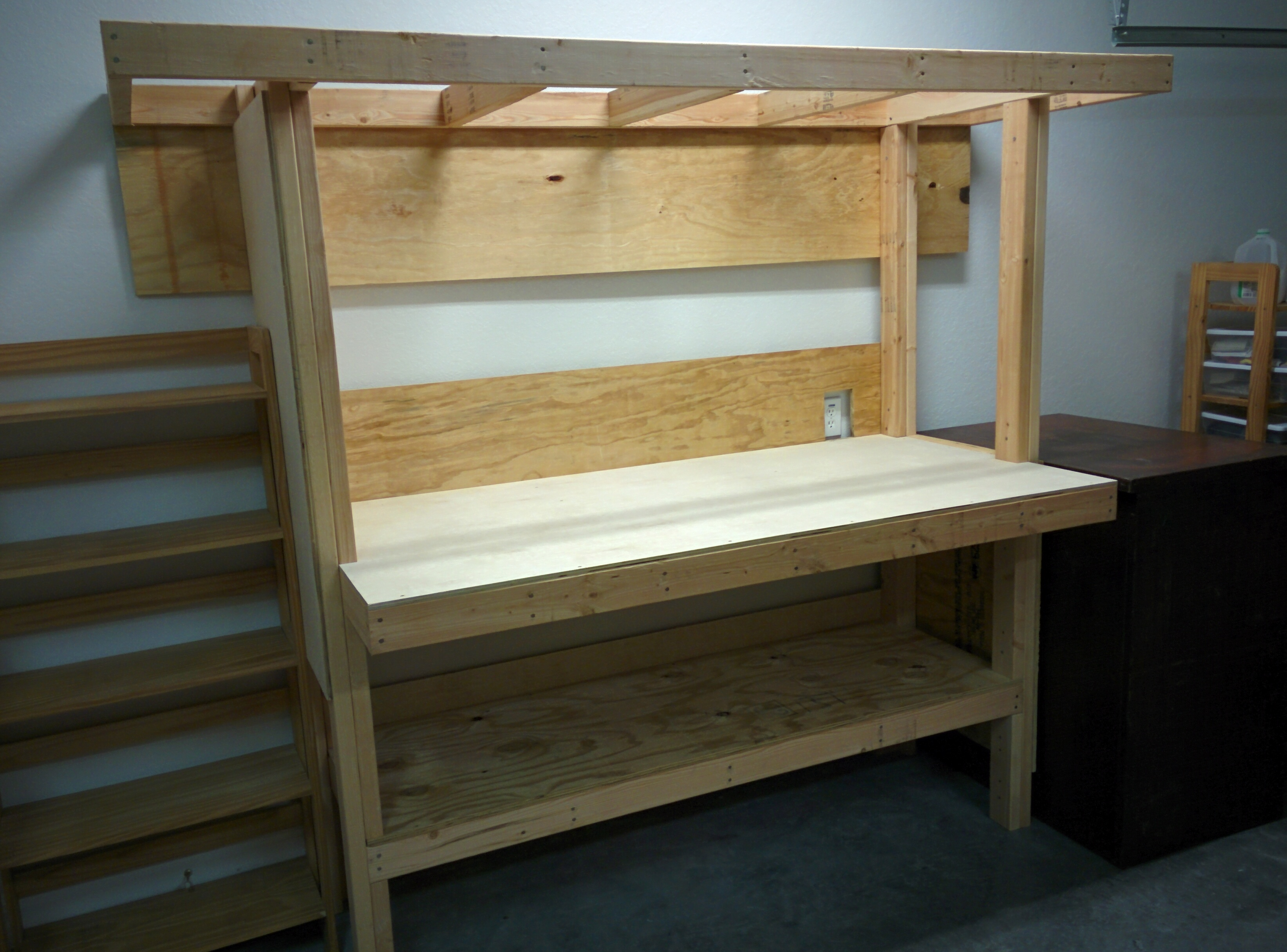 Outstanding Build A Workbench From Plywood And 24S Jays Technical Talk Creativecarmelina Interior Chair Design Creativecarmelinacom