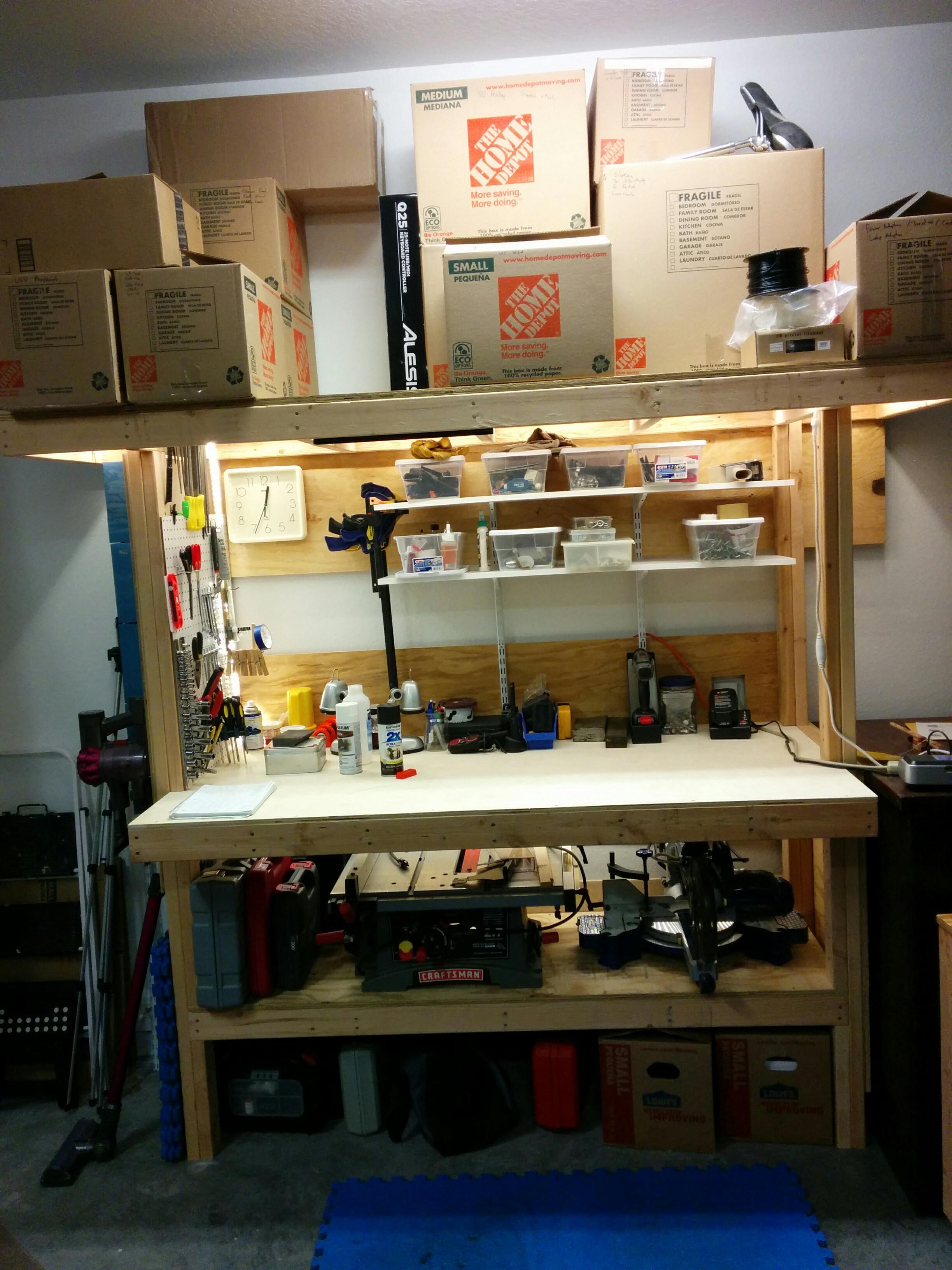 Groovy Build A Workbench From Plywood And 24S Jays Technical Talk Creativecarmelina Interior Chair Design Creativecarmelinacom