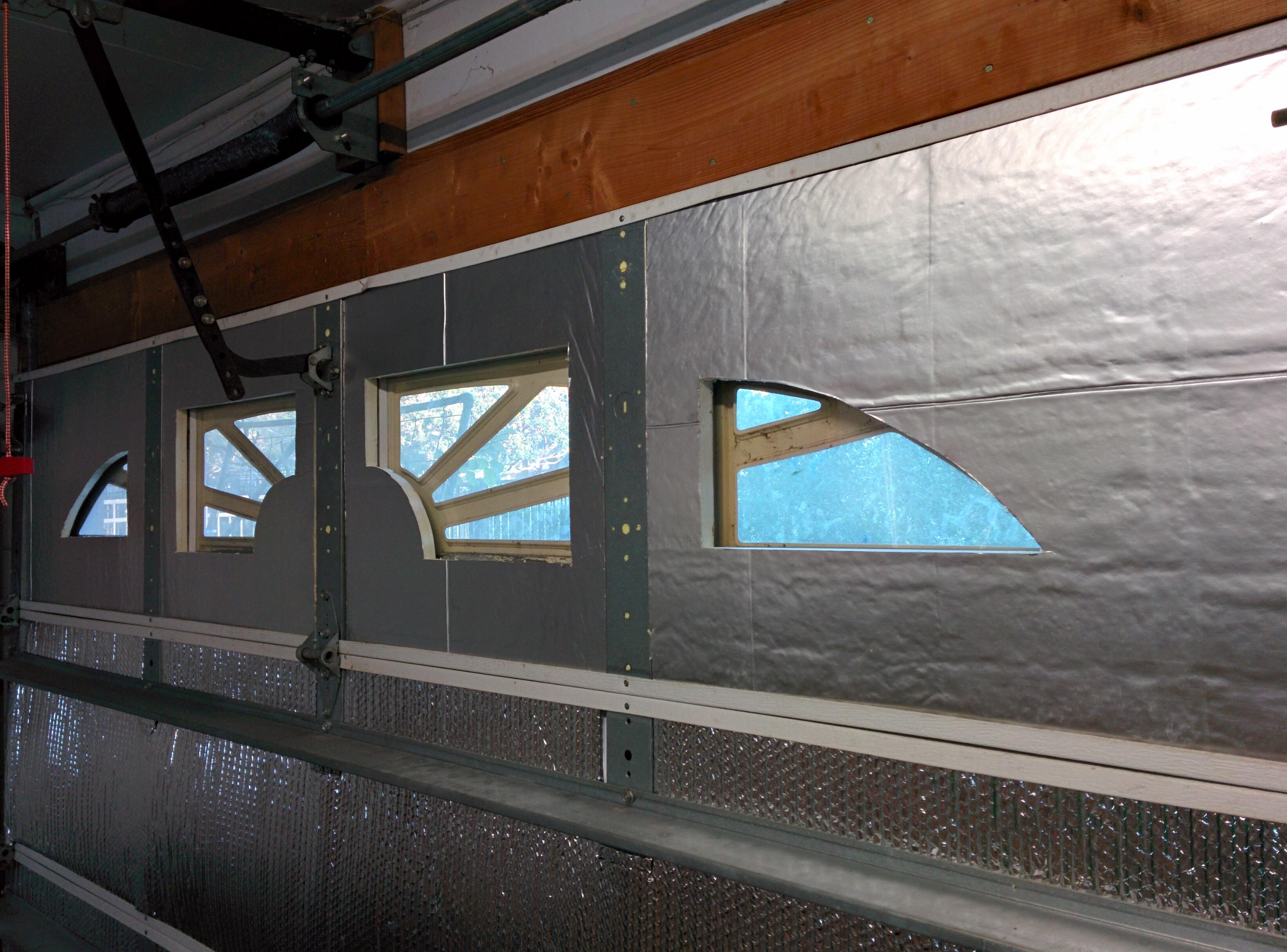 Garage door insulation part 3 window openings jay 39 s for Door insulation