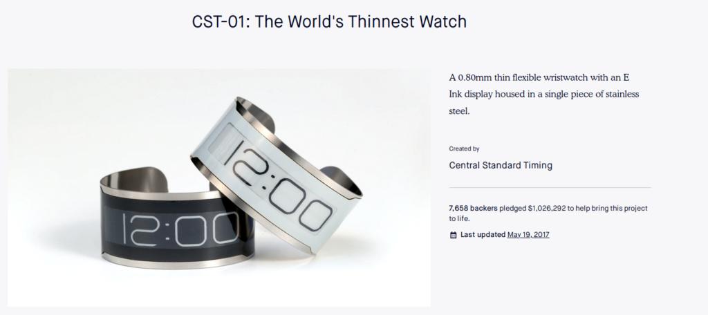 thin band e-ink wristwatch